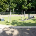 Bewegungsinsel für Parksport im Bezirk Wandsbek am Bramfelder See nutzen
