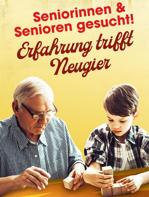 Erfahrung trifft Neugier – Senioren und Seniorinnen gesucht