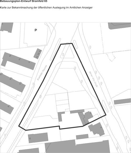 Öffentliche Auslegung des Bebauungsplan-Entwurfs Bramfeld 65