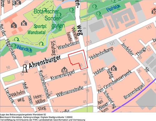 Bebauungsplan-Entwurf Wandsbek 82 (Ahrensburger Straße/Holstenhofweg)