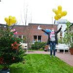 Wunschluftballons über der Residenz am Wiesenkamp